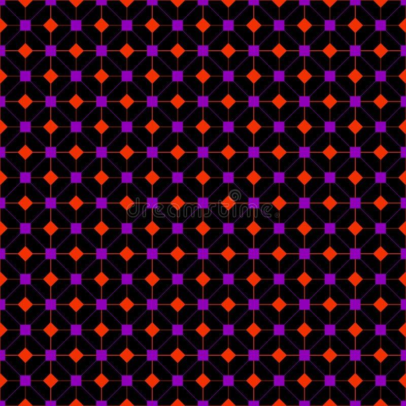 Boîte de conception de tissu de modèle de couleur pourpre et orange illustration de vecteur
