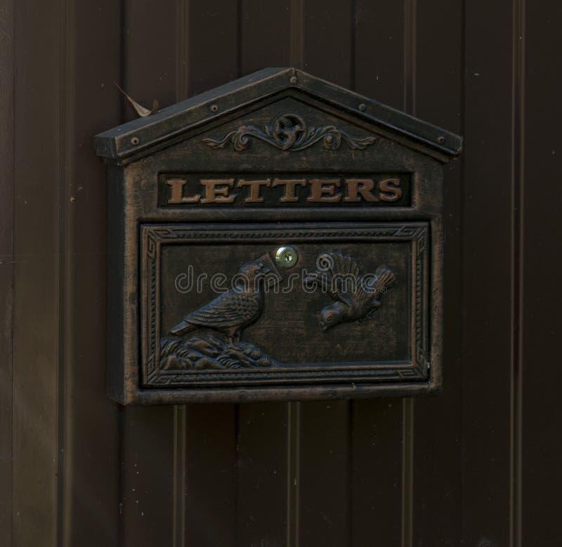 Boîte de courrier pour des personnes en Russie images libres de droits