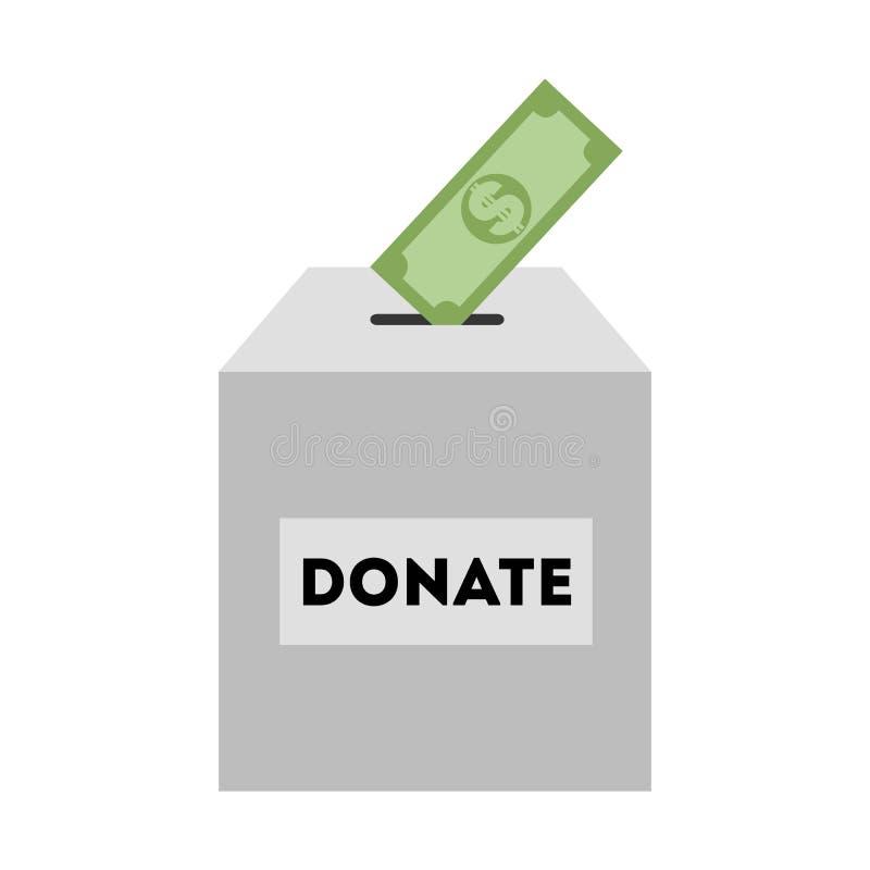 Boîte de donation illustration libre de droits