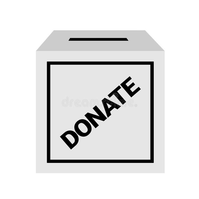 Boîte de donation pour le cadeau Trou pour l'argent donné illustration libre de droits