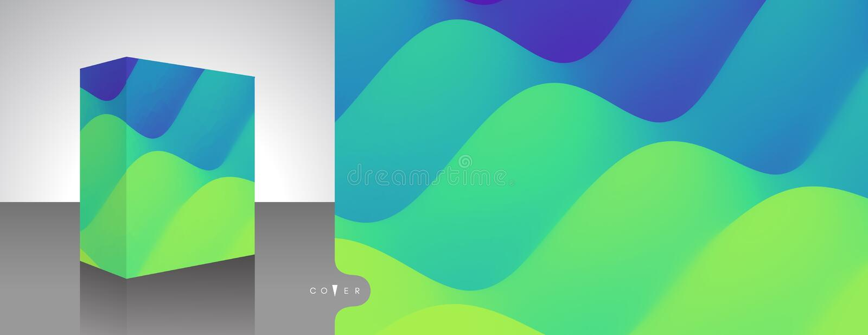 Boîte de empaquetage réaliste Emballage de produit Fond abstrait avec l'effet dynamique illustration du vecteur 3d pour le logici illustration de vecteur