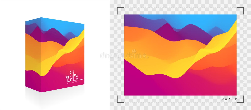 Boîte de empaquetage réaliste Emballage de produit Fond abstrait avec l'effet dynamique illustration du vecteur 3d pour le logici illustration stock