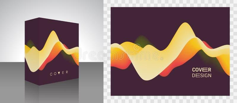 Boîte de empaquetage réaliste Emballage de produit Fond abstrait avec le gradient de couleur Onde sonore de mouvement illustratio illustration libre de droits