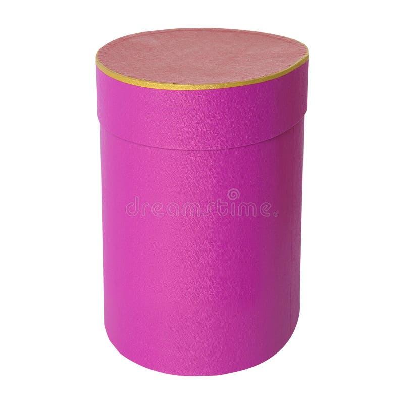 Boîte de fantaisie ronde sur un blanc image stock