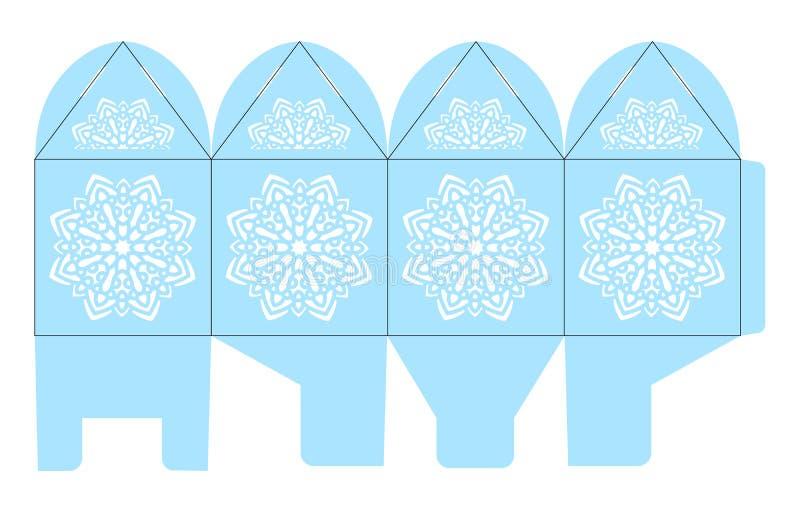 Boîte de faveur de cage à oiseaux Cadeau de Noël illustration libre de droits