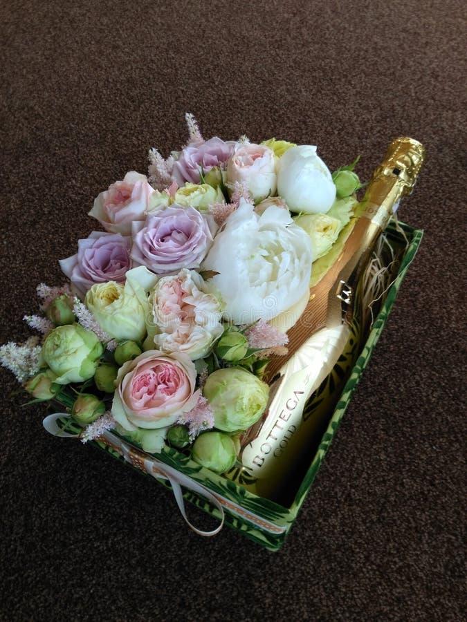 Boîte de fleur photo libre de droits