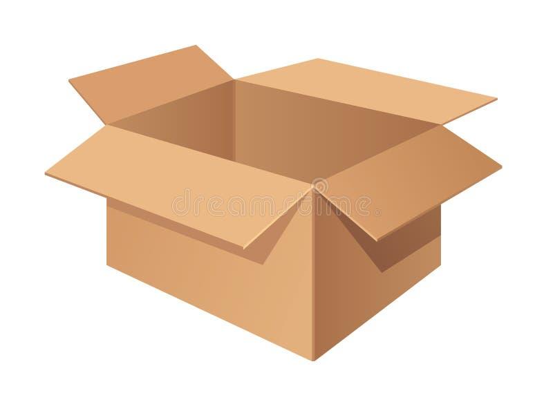 Boîte de la livraison de carton d'isolement Illustration de vecteur illustration de vecteur