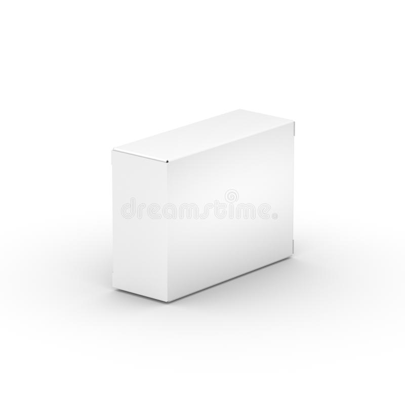 Boîte de livre blanc photo libre de droits