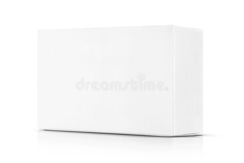Boîte de livre blanc pour la maquette de conception de produits images stock
