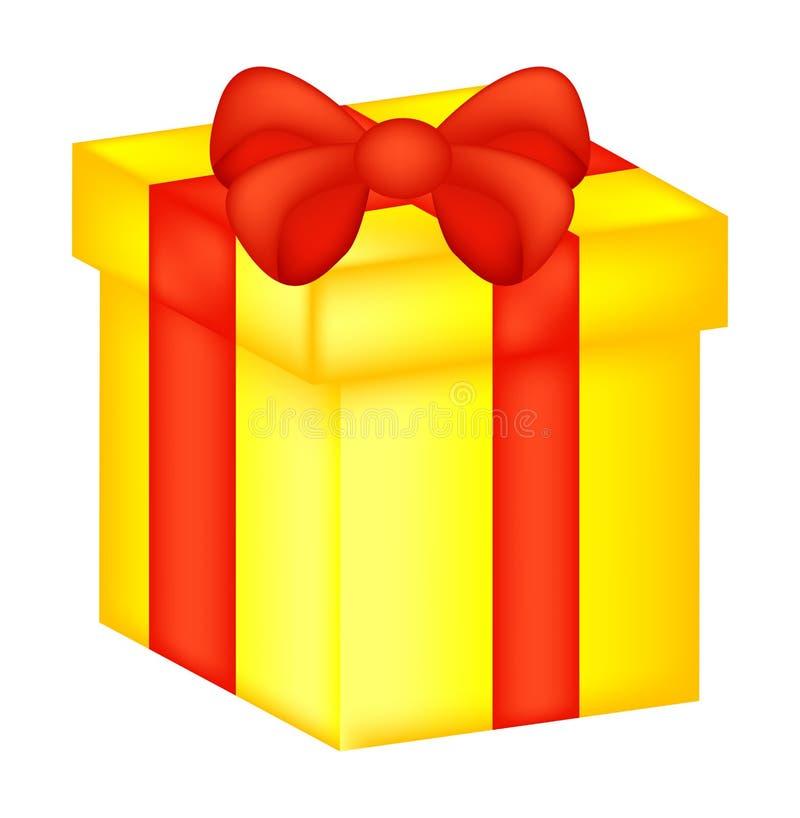 Boîte de Noël, icône de cadeau, symbole, conception Illustration de vecteur d'isolement sur le fond blanc illustration stock