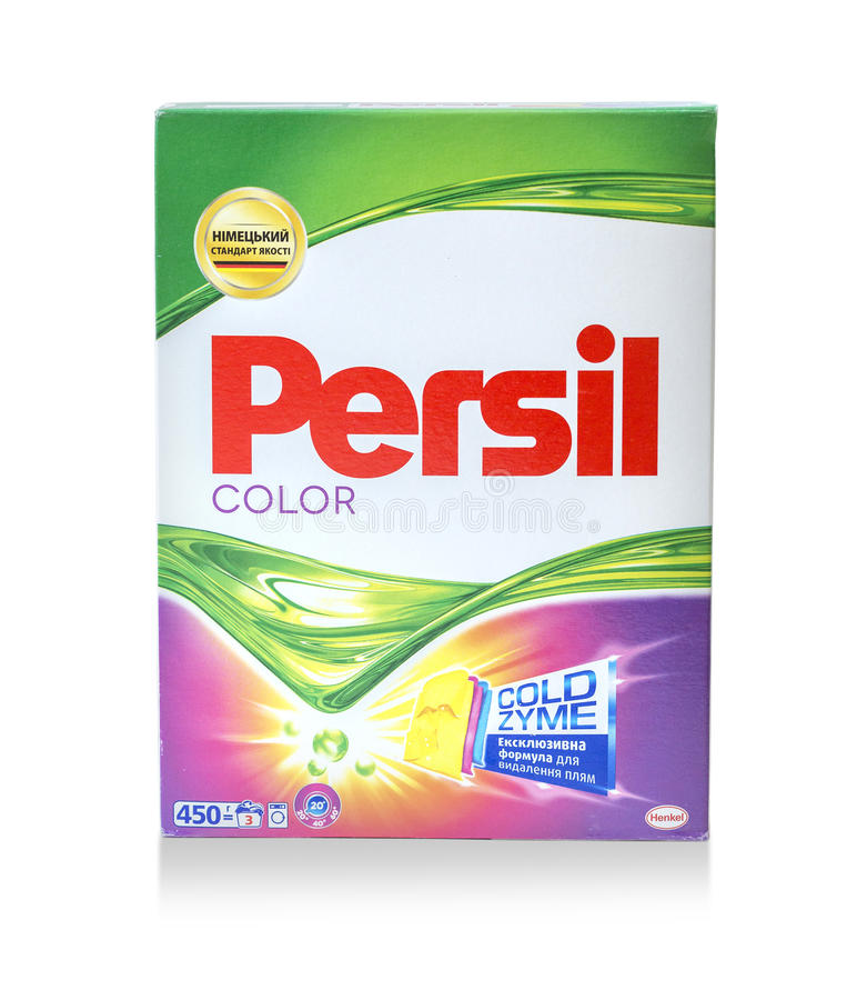 Boîte de non-bio poudre à laver de Persil images libres de droits