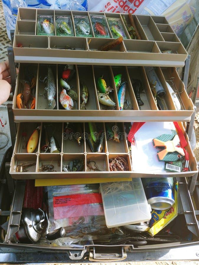 Boîte de pêche image libre de droits