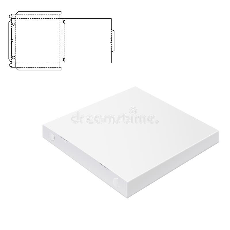 Boîte 1 de paquet de pizza illustration libre de droits