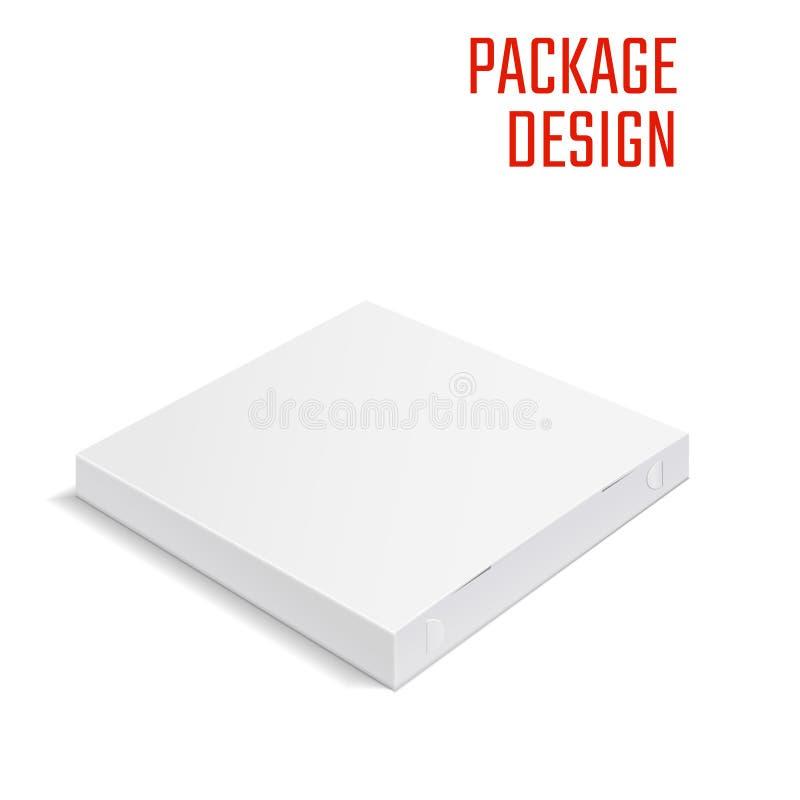 Boîte 1 de paquet de pizza illustration de vecteur