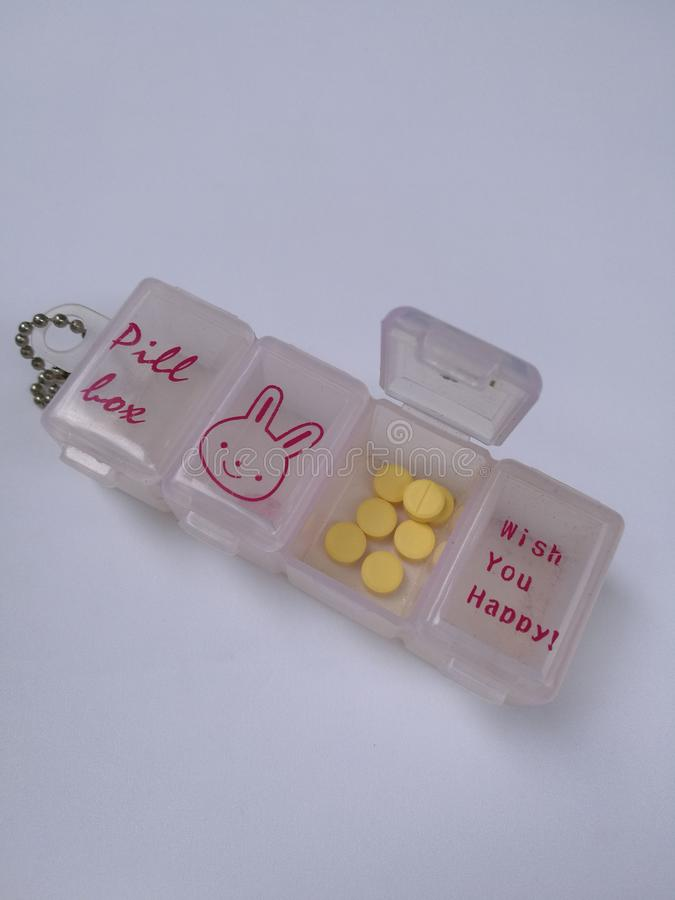 Boîte de pilule images libres de droits