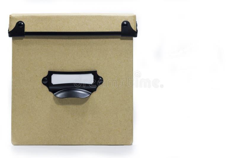Boîte de rangement de Brown photo libre de droits