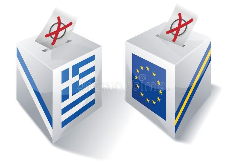 Boîte de sélection avec l'Europe et la Grèce illustration stock