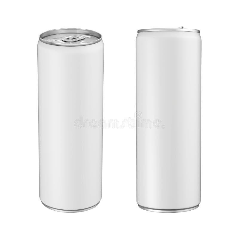 Boîte de soude en aluminium d'isolement illustration libre de droits