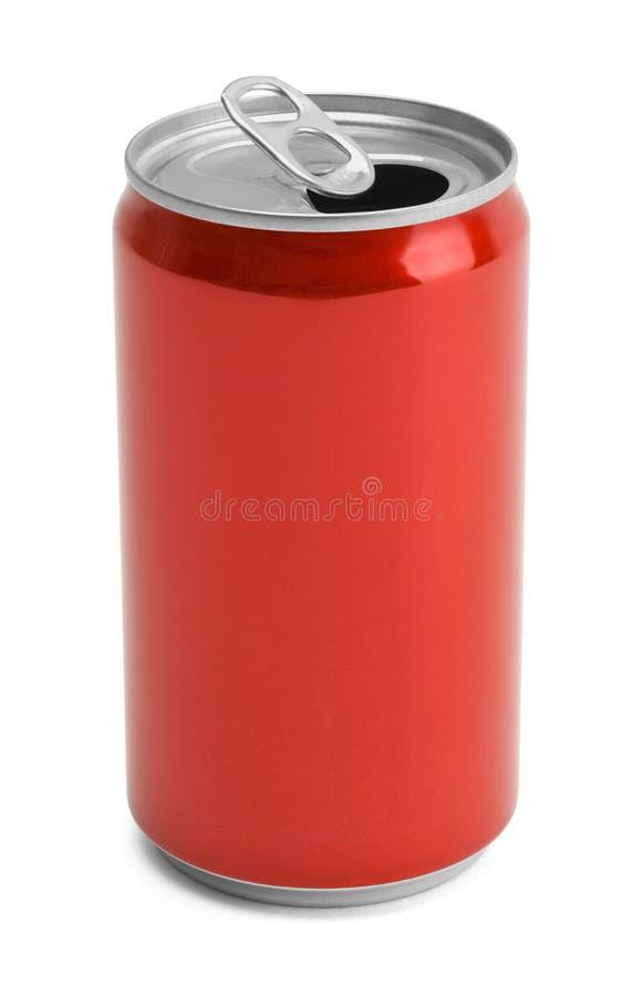 Boîte de soude rouge ouverte image stock