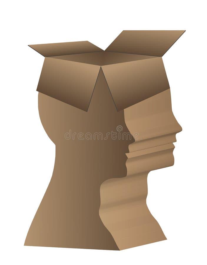 Boîte de tête humaine illustration stock