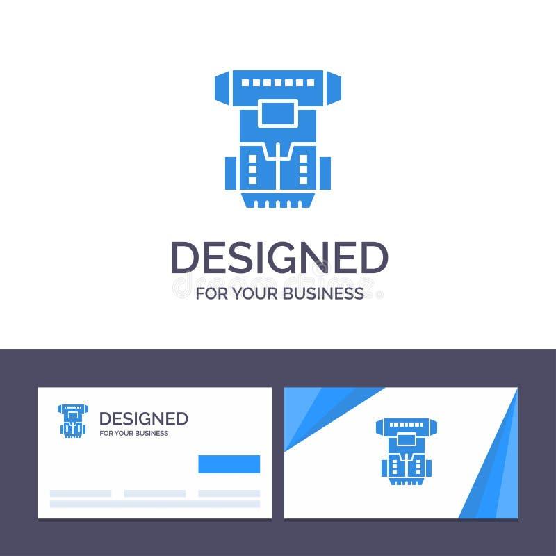 Boîte de visite de calibre créatif de carte de visite professionnelle et de logo, chambre, cryogénique, cryogénisation, illustrat illustration de vecteur