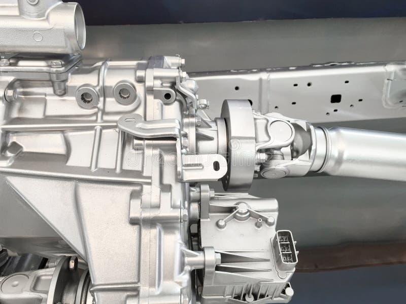 Boîte de vitesse 4WD avec la commande d'axe photographie stock libre de droits