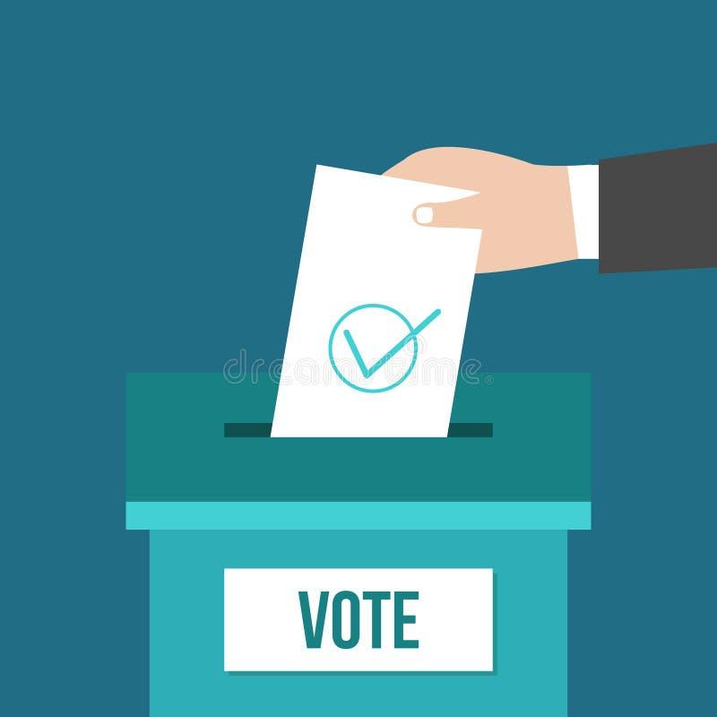 Boîte de vote illustration de vecteur