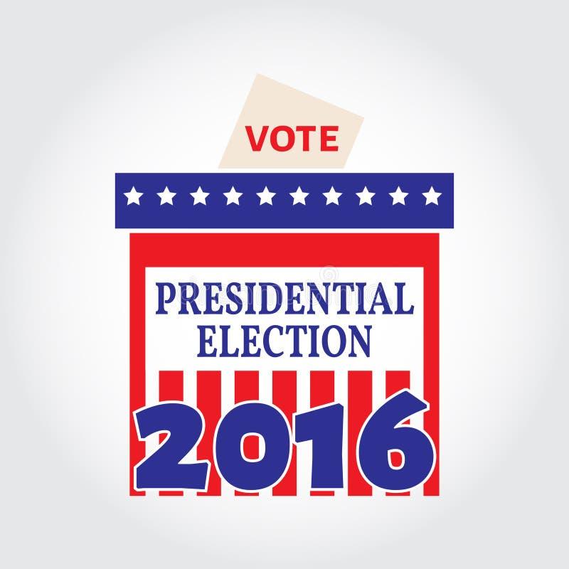 Boîte de vote pour l'élection présidentielle Illustration de vecteur illustration de vecteur