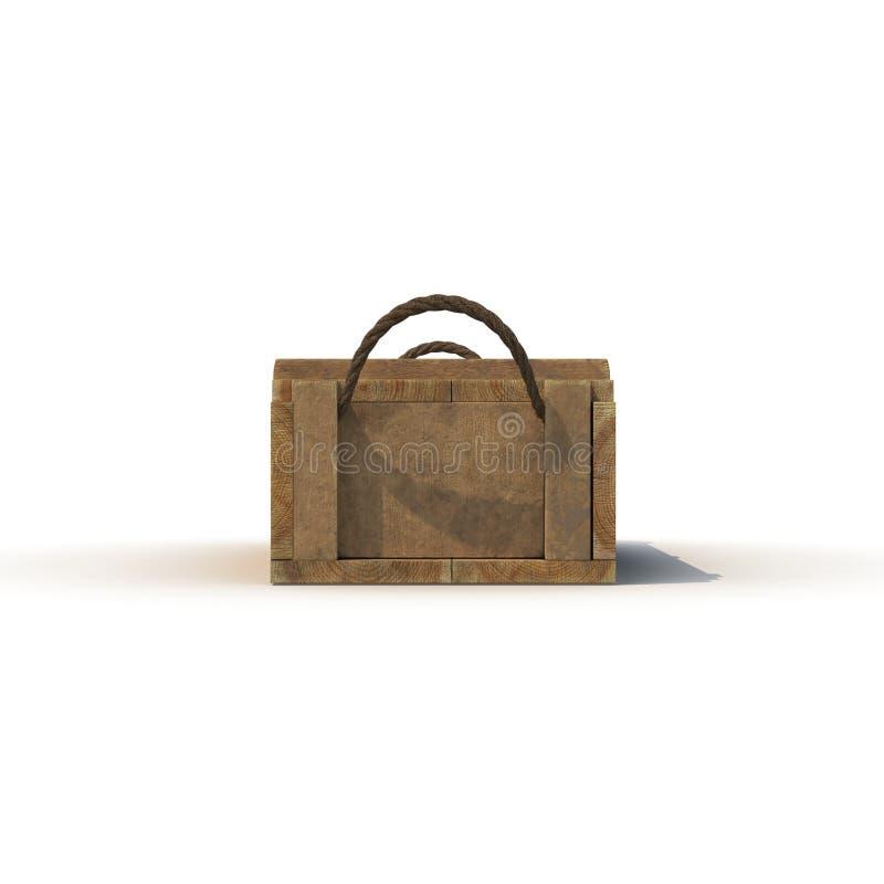 Boîte de vue de face de munitions d'isolement sur le blanc illustration 3D illustration libre de droits