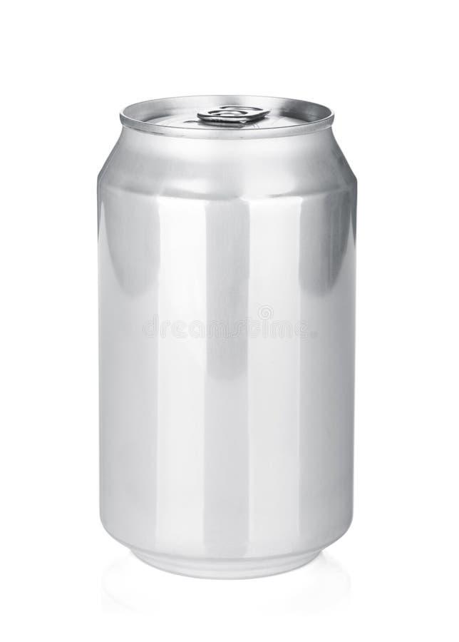 Boîte en aluminium image stock