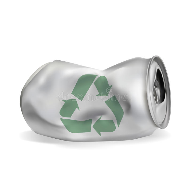 Boîte en aluminium bloquée illustration de vecteur