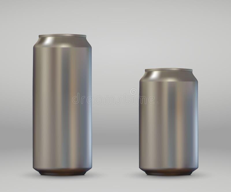 Boîte en aluminium réaliste illustration de vecteur