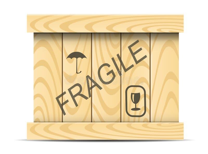 Boîte en bois illustration libre de droits