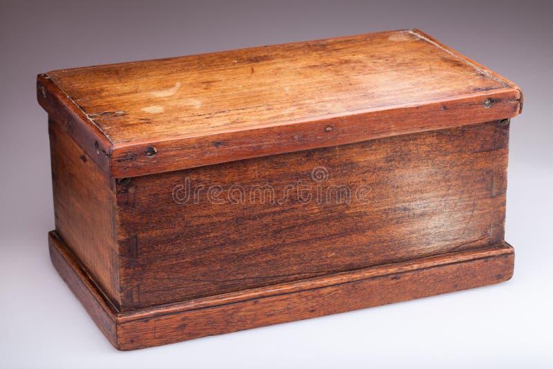 Boîte en bois antique image stock