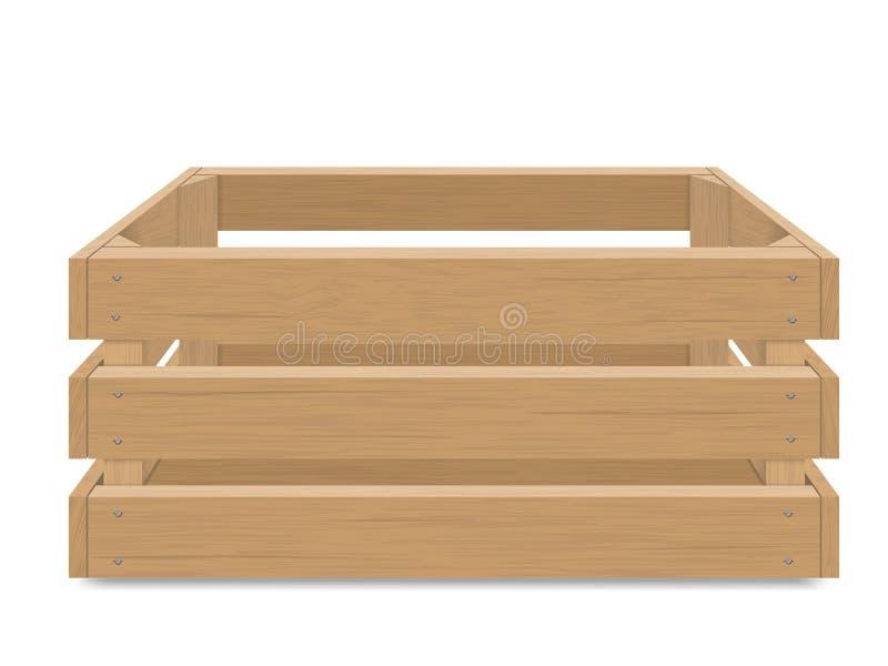 Boîte en bois vide pour des fruits et légumes illustration de vecteur