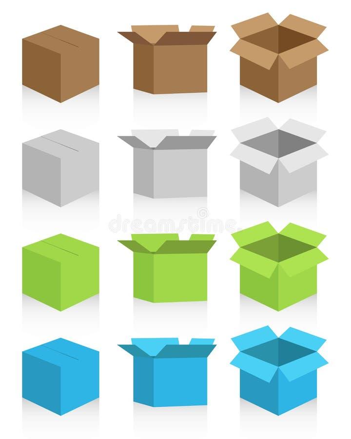Boîte en carton illustration libre de droits