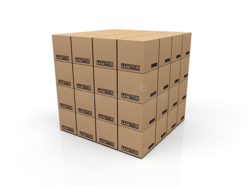 Boîte en carton illustration de vecteur