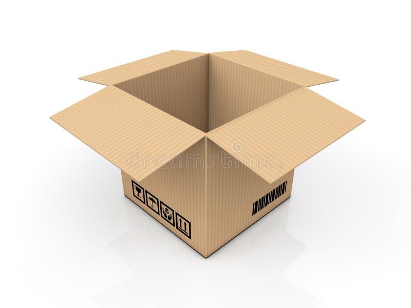 Boîte en carton illustration stock