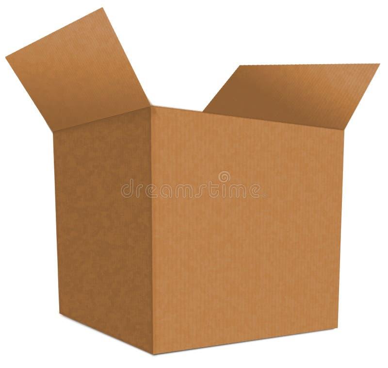 Boîte en carton 8 photographie stock
