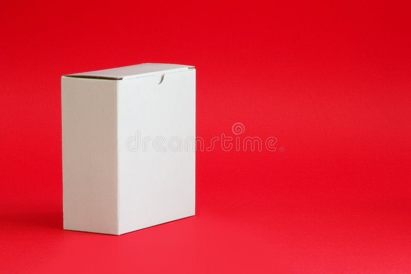 Boîte en carton blanche photographie stock