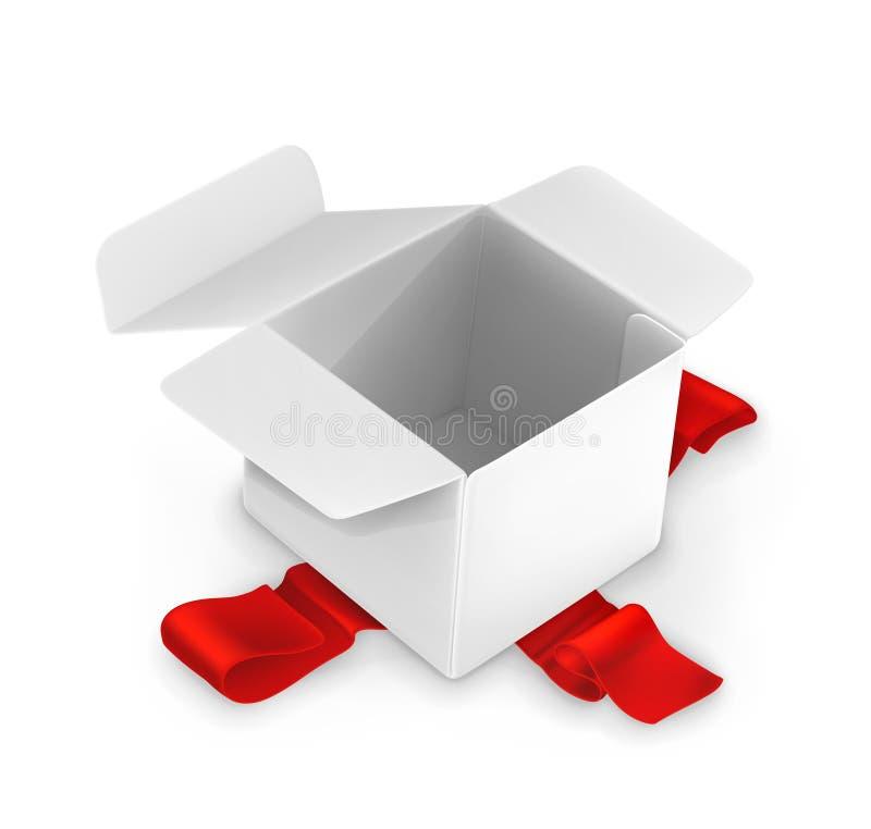 Boîte en carton blanche illustration de vecteur