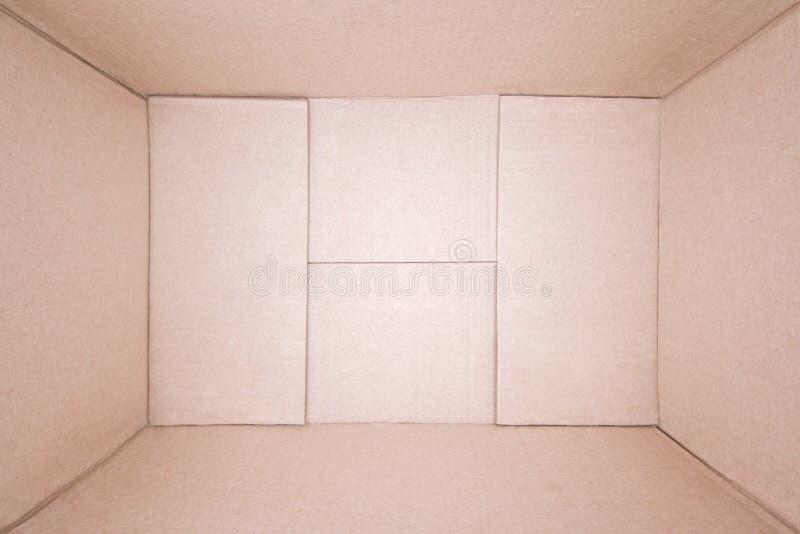 Boîte en carton brune vide photographie stock libre de droits