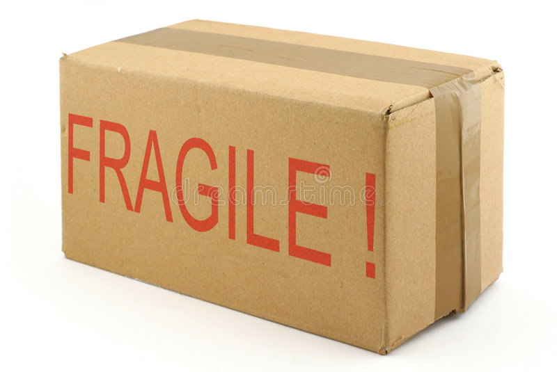 Boîte en carton fragile #2 photographie stock