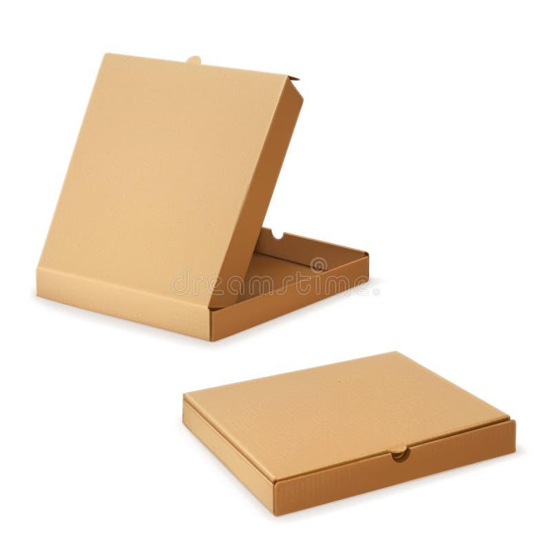 Boîte en carton pour la pizza illustration de vecteur
