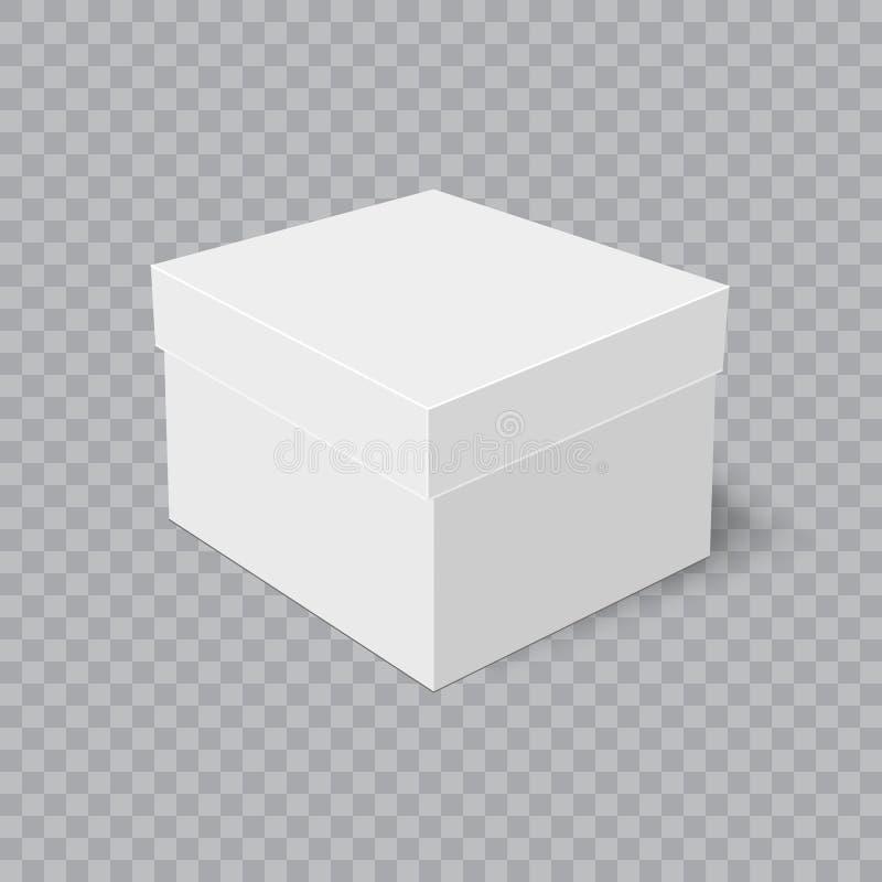 Boîte en carton réaliste avec l'ombre molle sur le fond transparent Vecteur illustration de vecteur