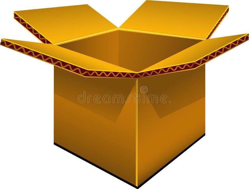 Boîte en carton vide illustration de vecteur