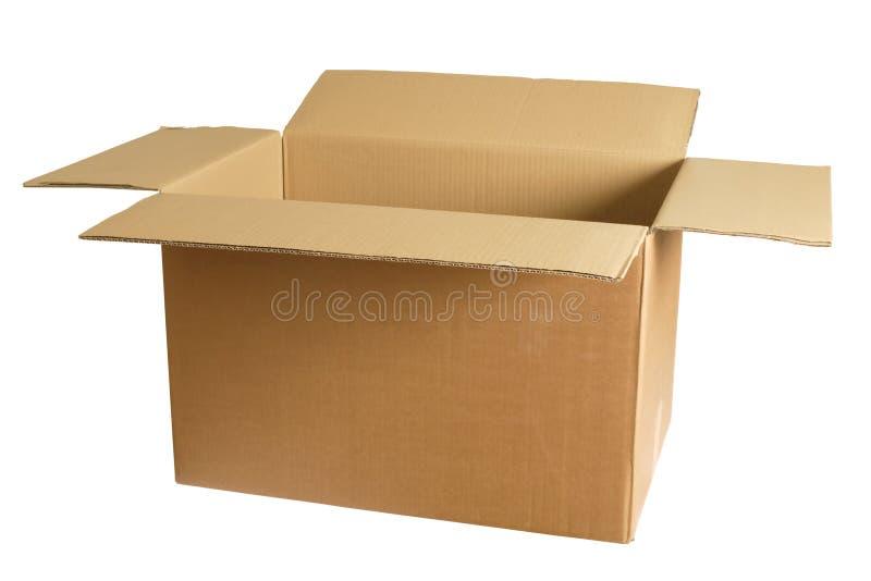 Boîte en carton vide photo libre de droits