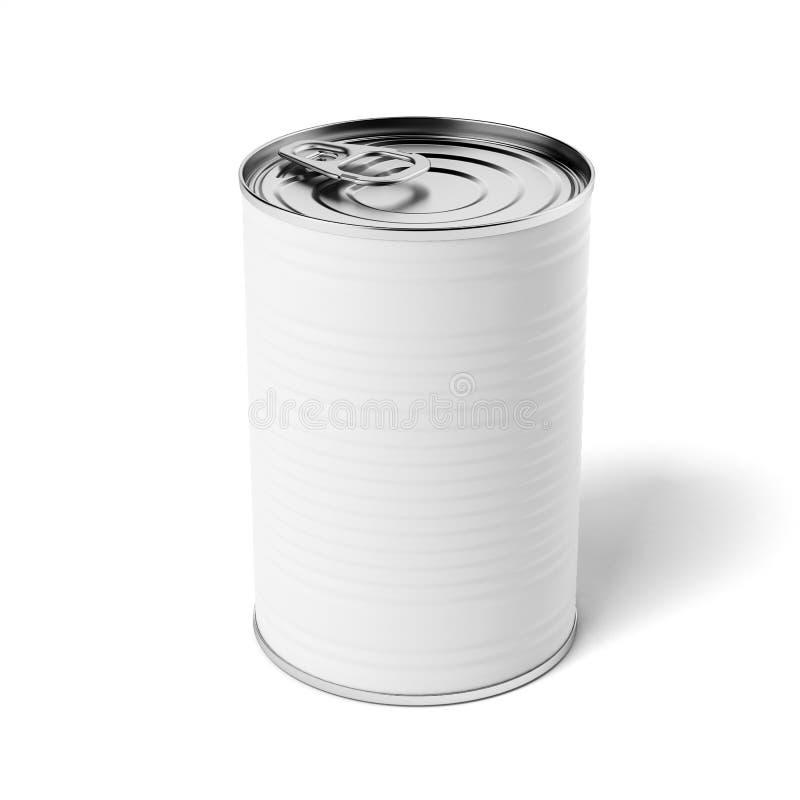 Boîte en fer blanc blanche illustration de vecteur