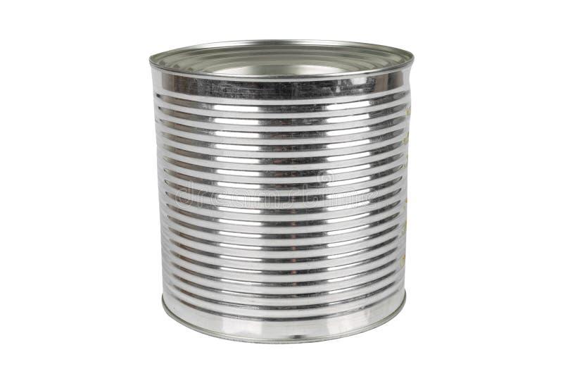Boîte en fer blanc en aluminium pour la nourriture images stock