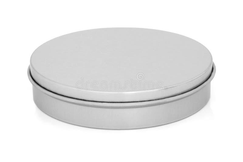 Boîte en fer blanc en métal photo stock